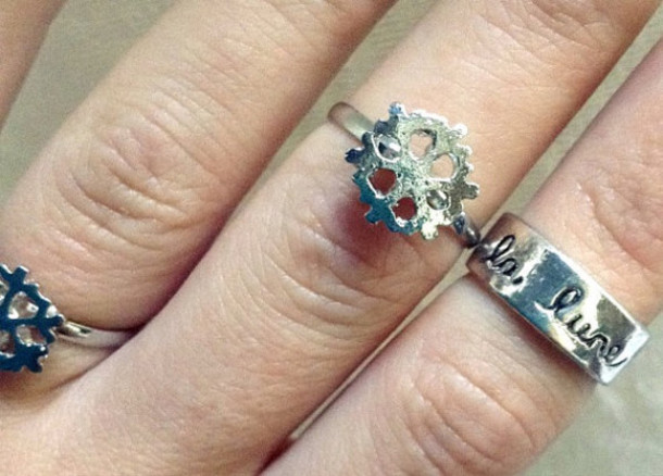 jewels jewelry ring silver ring snowflake moon style kawaii grunge pastel goth ring christmas rings and tings rings and jewelry silver jewelry snowflake ring kawaii