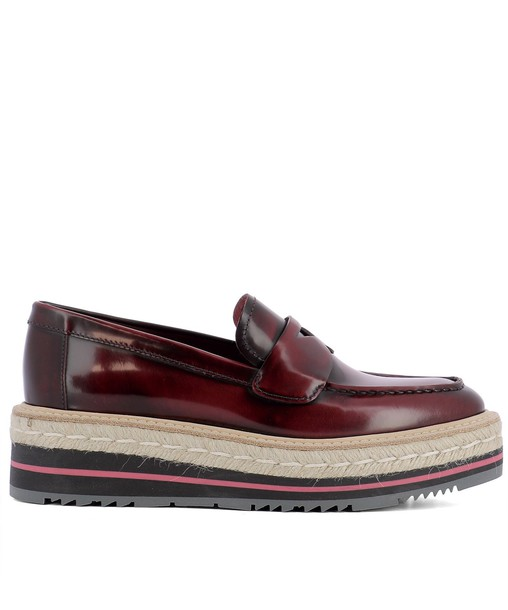 Prada loafers leather pink shoes