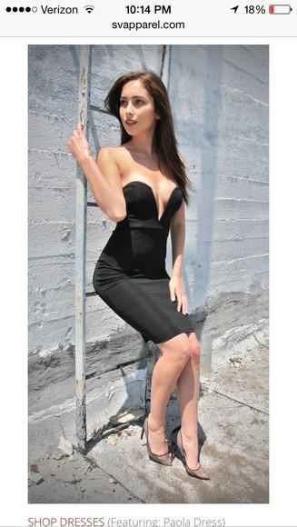 deep v neck black dress elegant dress christian louboutin kim kardashian dress sweetheart dresses deep v neck dress midi dress