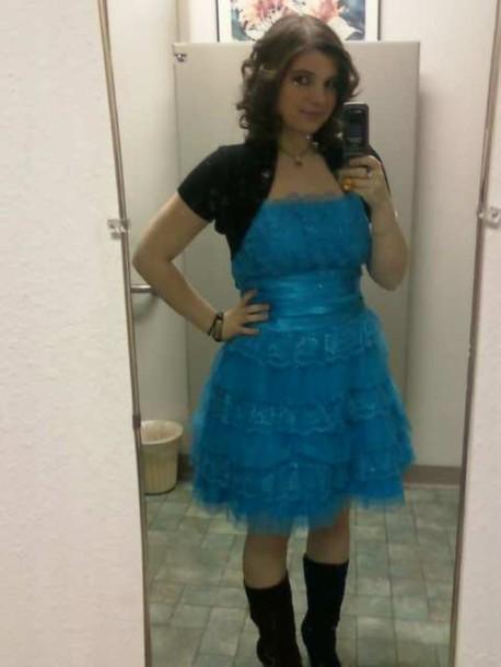 Dress Layered Lace Dress Satin Belt Short Prom Dress Bright