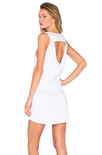 dress mini dress mini back drawstring white