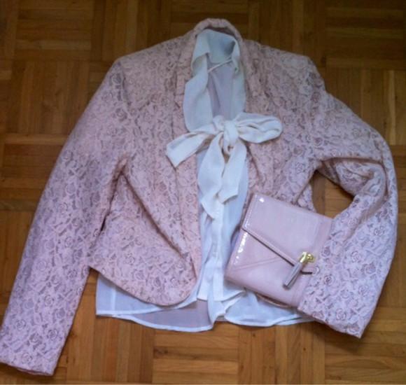 jacket pink jacket bag pink bag