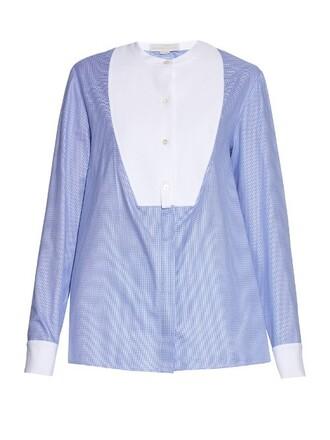 shirt white blue top