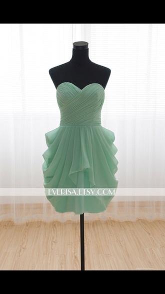 dress mint dress mint green prom dress sweetheart neckline short dress