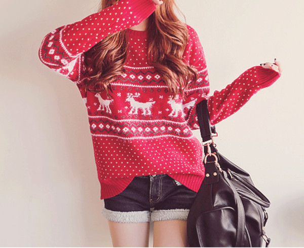 sweater winter sweater christmas sweater oversized cardigan kawaii