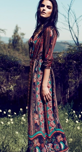 dress boho maxi dress bohemian