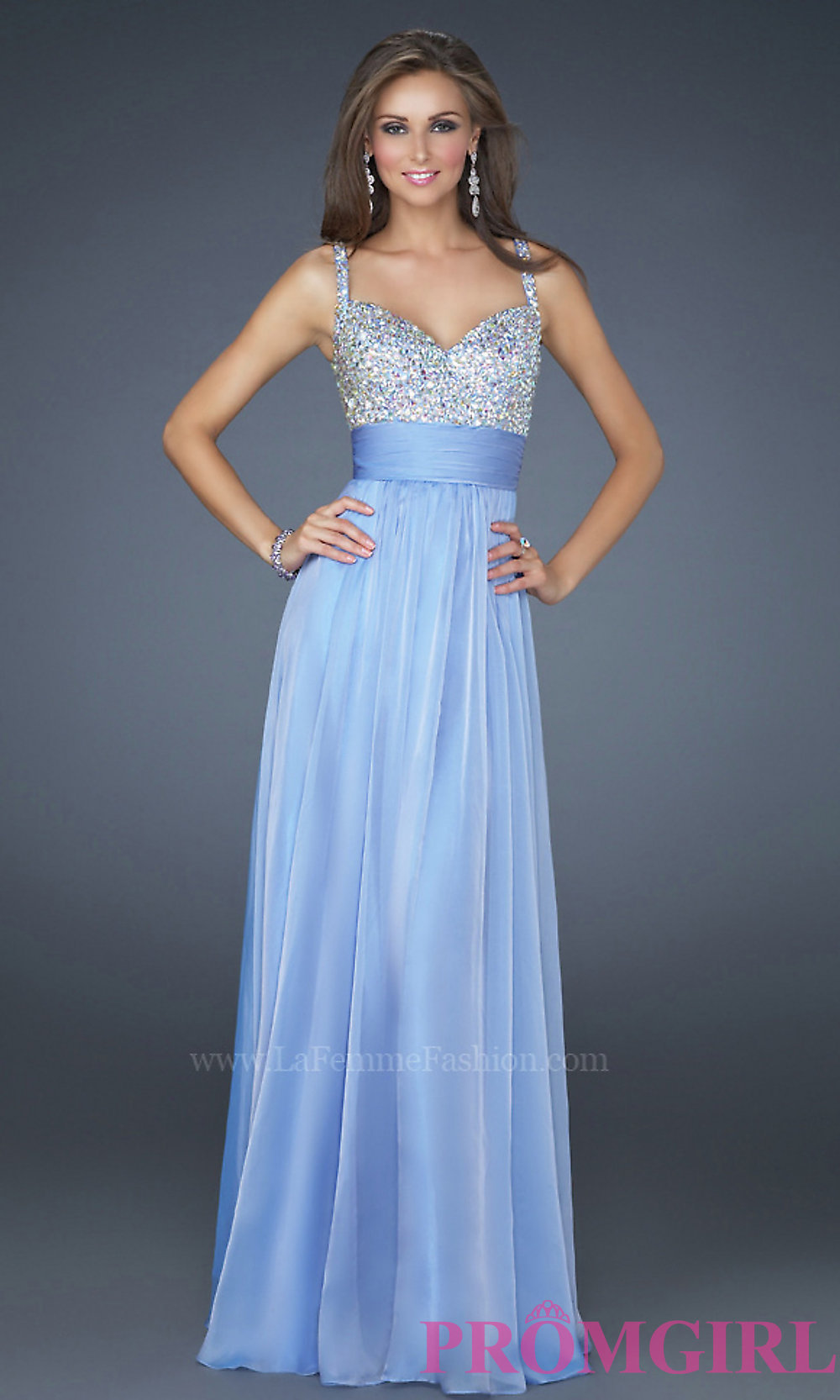Periwinkle Blue Prom Dress