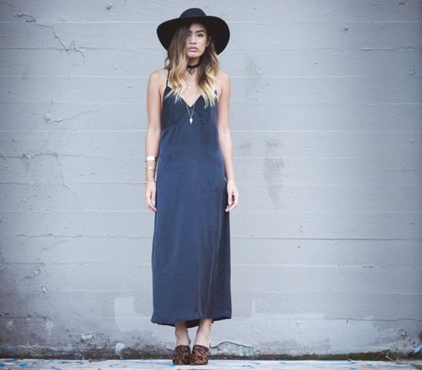 little black boots blogger maxi dress charcoal boho