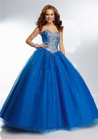 dress prom blue glam girly beautiful