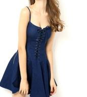 dress,denim,ripped jeans,light blue demin,denim dress,boobs,sexy,model,blue