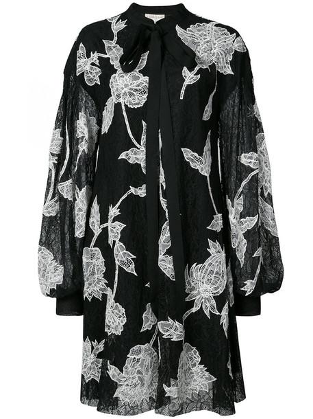 dress lace dress women lace floral black