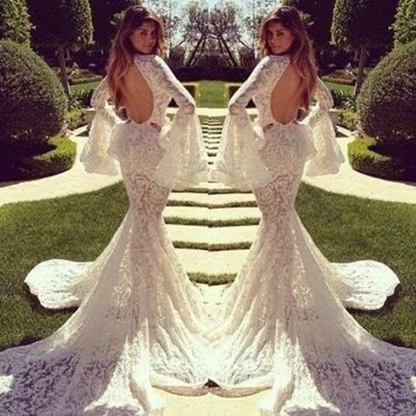 Turmec long sleeve lace wedding dress with open back long sleeve lace wedding dress with open back junglespirit Images