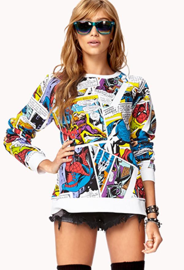 sweater marvel pop art
