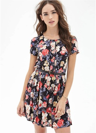 dress floral print\ floral fashion style
