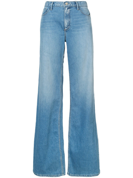 oscar de la renta jeans women cotton blue