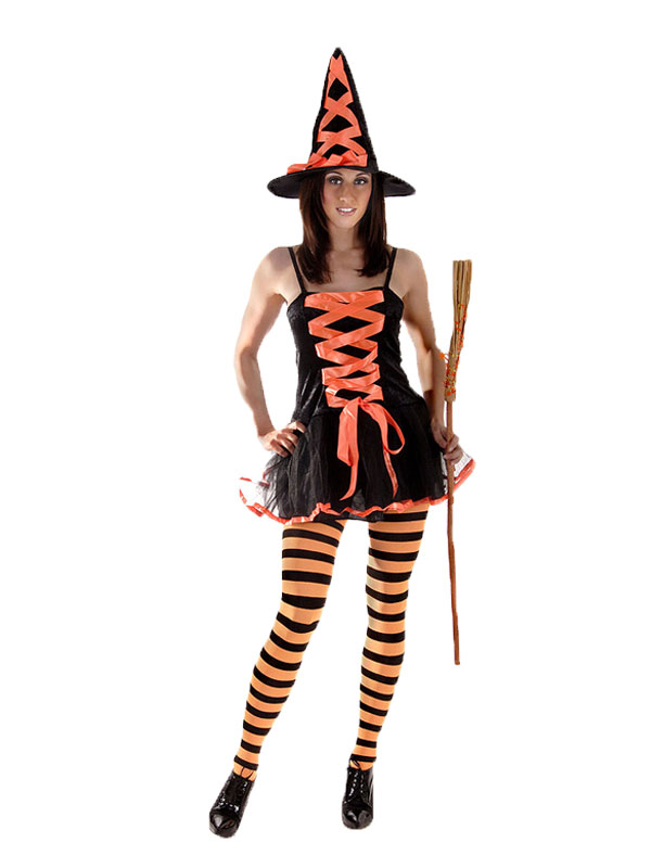 LADIES SEXY WICKED WITCH BEWITCHED HALLOWEEN FANCY DRESS COSTUME   HAT | Amazing Shoes UK