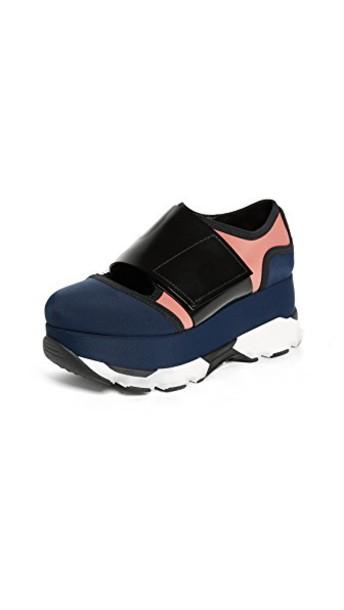 MARNI sneakers platform sneakers black shoes