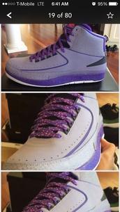shoes,jordans,2s,purple