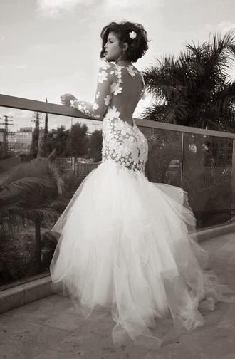 dress white lace backless dress