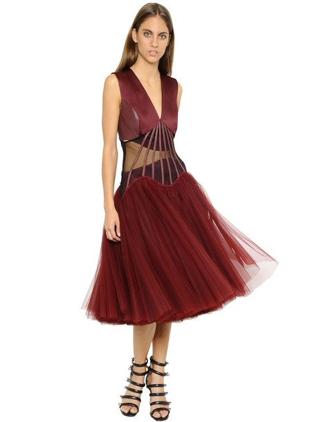 CHRISTOPHER KANE dress tulle dress burgundy