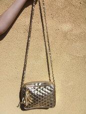 bag,chanel-like,vintage bag,gold bag,undefined,vintage,hipster,gold,dress