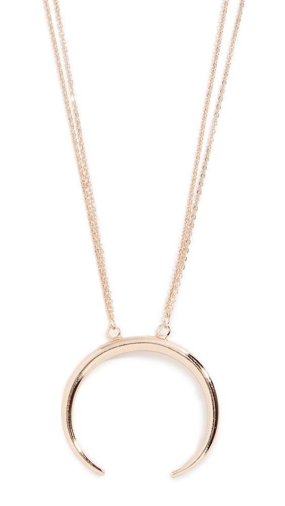 Stella + Ruby Stella + Ruby Crescent Pendant Necklace in gold / yellow