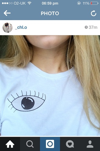 t-shirt shirt eye tumblr pale soft grunge grunge white black black and white make-up cute blonde hair girl mouth face love graphic tee band