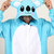 KIGURUMI Cosplay Romper Charactor animal Hooded PJS Pajamas Pyjamas Xmas gift Adult Costume sloth outfit Sleepwear-blue koala