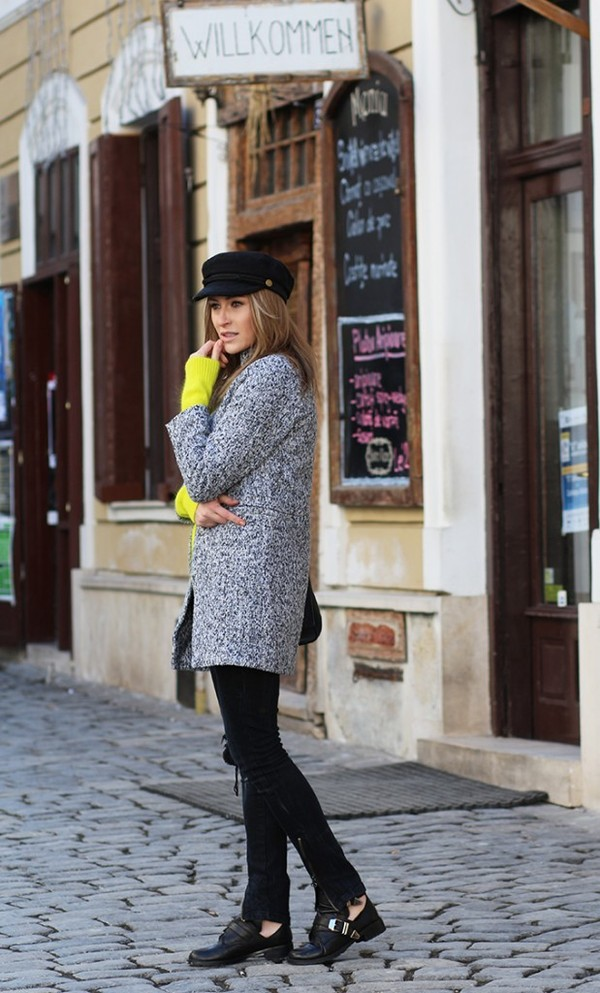 fashion spot coat sweater shoes