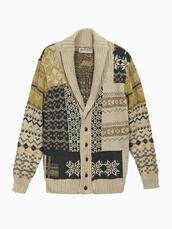 sweater,mens cardigan,cardigan,beige cable
