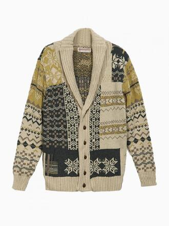 sweater mens cardigan cardigan beige cable
