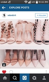 shoes,heels,laces,cute,classy,nice,nude,sandals,all,all nude everything,pink,nude heels,open toes,high heels,blush pink
