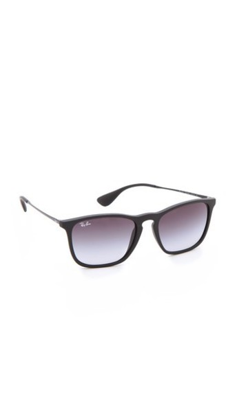 Ray-Ban New Rubber Youngster Sunglasses - Rubber Black/Gradient Grey