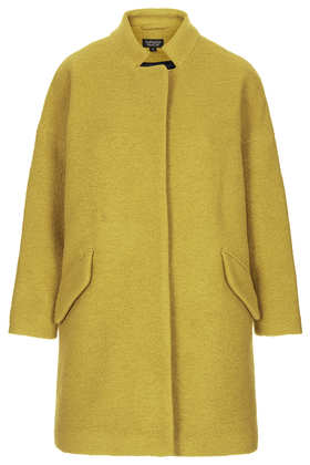 Wool Notch Neck Coat - Jackets & Coats  - Clothing  - Topshop