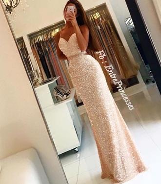 dress glitterdress long dress gold gold dress prom dress gown sparkly dress