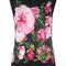 Dolce & gabbana rose print tank top, women's, size: 46, black, cashmere/silk