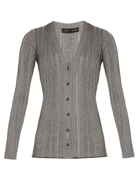 Proenza Schouler cardigan cardigan knit silver sweater