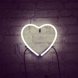home accessory neon light heart lamp