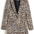 ROMWE | Lapel Leopard Print Loose Blazer, The Latest Street Fashion