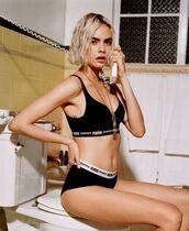 underwear,cara delevingne,panties,bra,puma,model