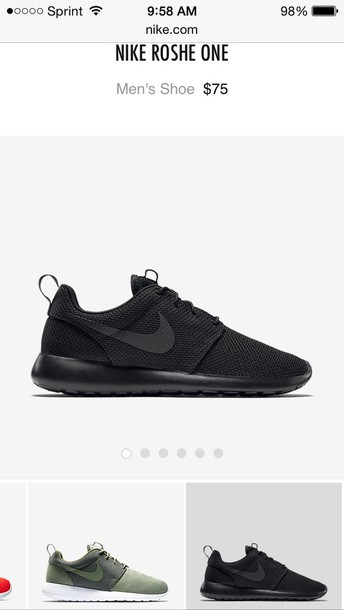 20868b644761 shoes black nike roshes