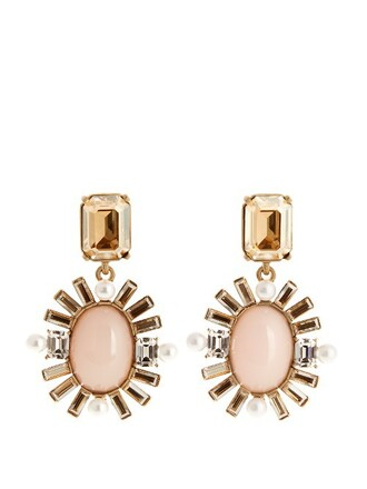embellished earrings nude jewels