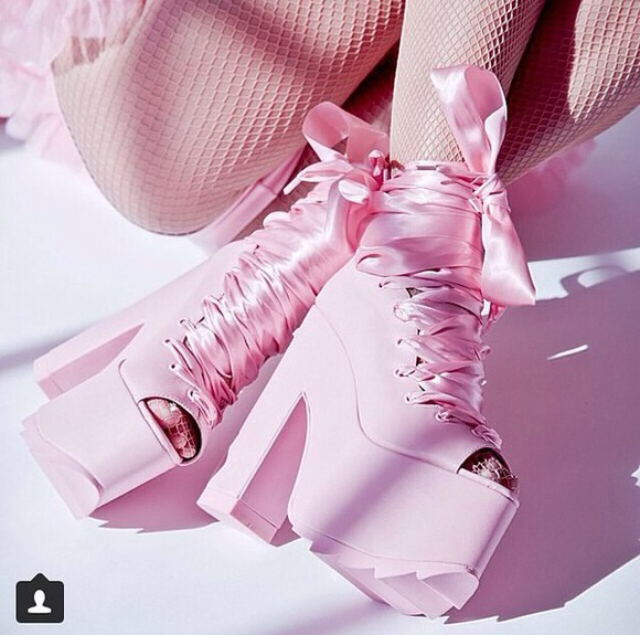 high heels heels, lace , pink , rose , pretty , cute , pink high heels heels with bows heels