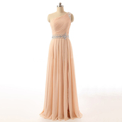dress,prom,prom dress,asymmetrical dress,asymmetrical,long dress,maxi,maxi dress,one shoulder,love,lovely,cute,wow,cute dress,cream,beige,light,ping,super,fashion,bridesmaid,sexy,sexy dress,trendy,girly,chiffon,chiffon dress