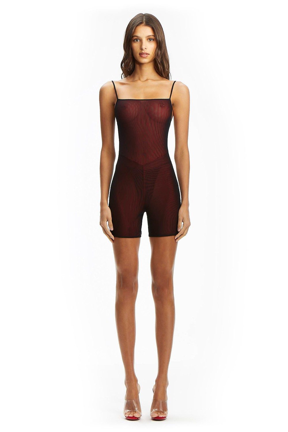 I Am Gia ULRIC PLAYSUIT - RED/BLACK