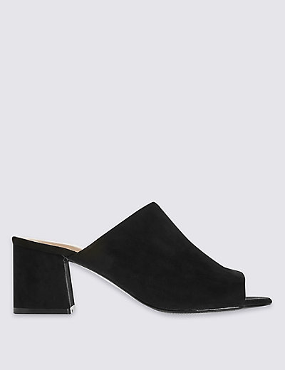 Block Heel Mule Shoes with Insolia®   M\u0026S