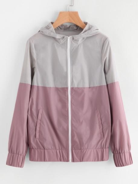 jacket grey girly windbreaker