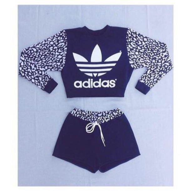 top adidas sweater red shorts adidas