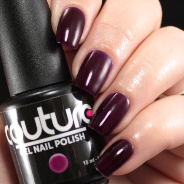 nail polish, deep purple nail polish, plum nail polish, gel nail ...