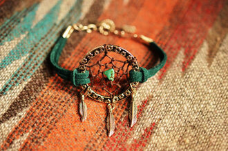 jewels green bracelets dreamcatcher